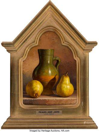 Loran Speck (American, 1943-2011) Pears and Jars Oil on