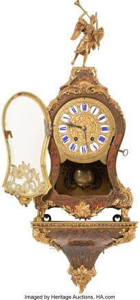 A French Louis XV-Style Gilt Bronze, Brass-Inlaid, and
