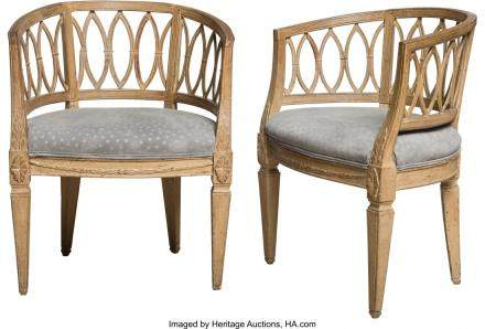 A Pair of Swedish Louis XVI-Style Carved Beechwood