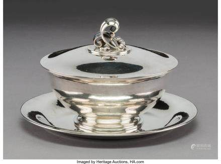 A Georg Jensen No. 499B Silver Covered Bowl with