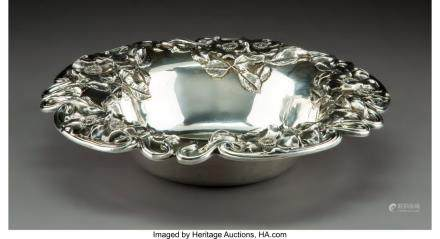 An Unger Brothers Art Nouveau Silver Bowl, Newark, New