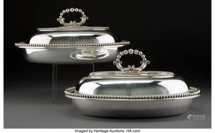 A Pair of Elkington, Mason & Co. Silver-Plated Covered
