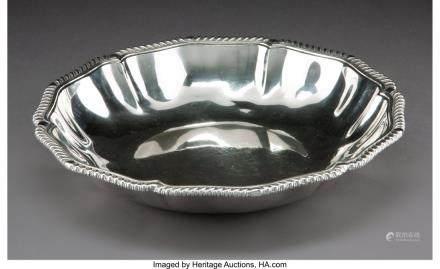 A Plateria Mendoza Silver Bowl, Mexico City, mid-20th