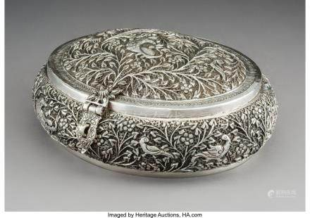 61753: A Large Indian or Burmese Silver Repoussé and R