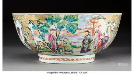61755: A Chinese Export Famille Rose Porcelain Bowl, Qi