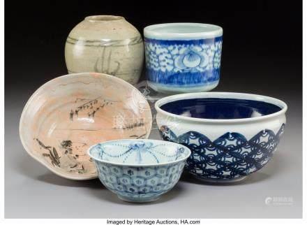 61757: Five Various Asian Porcelain and Ceramic Bowls a