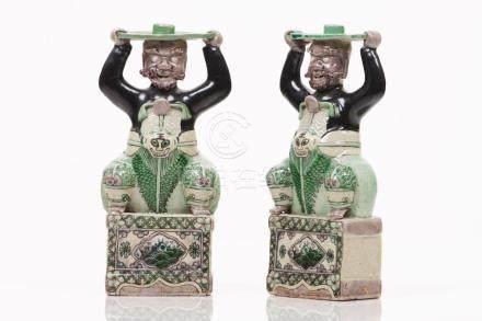 A pair of incense burners