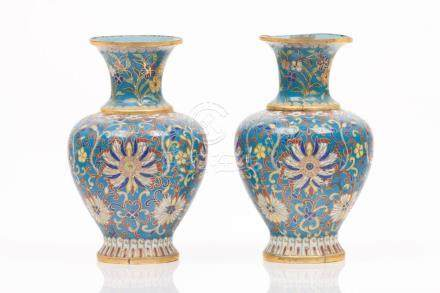 A pair of small vases