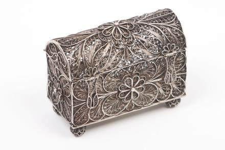 An Indo-Portuguese jewel casket
