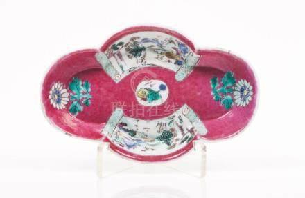 A scalloped saucer