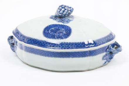 A scalloped oval tureen