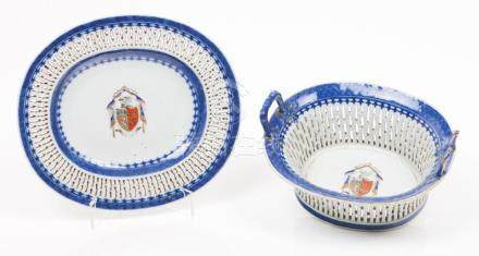 A basket with pierced dish