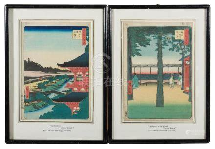 TWO JAPANESE WOODBLOCK PRINTS ANDO HIROSHIGE (1797-1858)