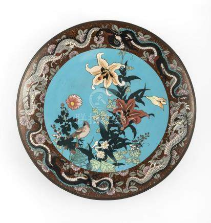 A PAIR OF LARGE ANTIQUE JAPANESE CLOISONNE OF THE MEIJI PERI