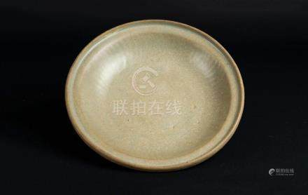 Chinese Art A celadon glazed pottery dish China, Song dynast