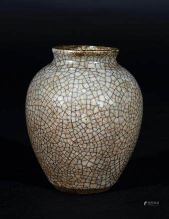 Chinese Art A small guan glazed pottery vase China, possibly