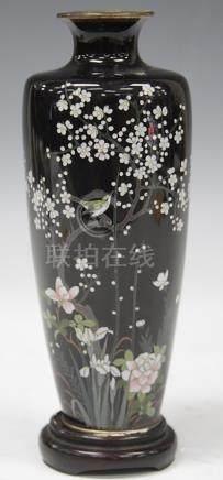 "FINE 19TH C. JAPANESE CLOISONNE VASE, 6 3/4"" H"