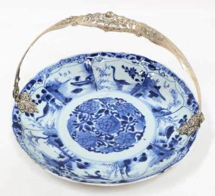 A porcelain dish, China, Kangxi, around 1700.