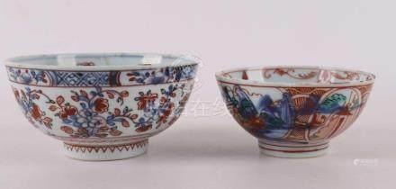 Two various Amsterdam colored bowls, China, Qianlong, 18th c