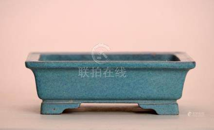 Chinese Robin Eggs Blue Yixin Planter - Unmark