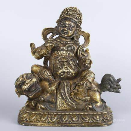 A GILT-BRONZE FIGURE OF PEHAR