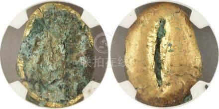 商/周 大型鎏金 貝幣
