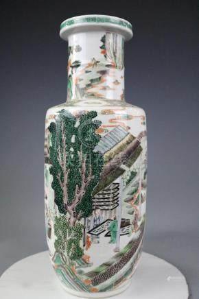 Kangxi Mark,A Famille Verte Vase