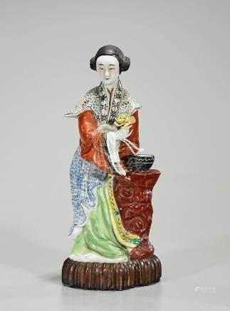 Chinese Enameled Porcelain Figure