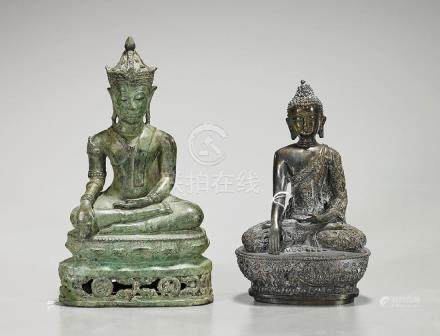 Two Southeast Asian Bronze Deities