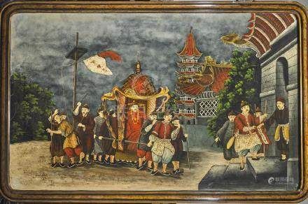 Large Chinese Lacquer Painting