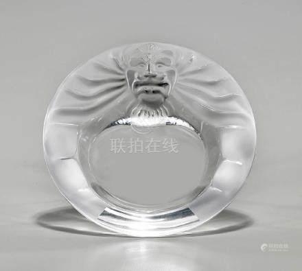 Lalique Lion Mask Ashtray