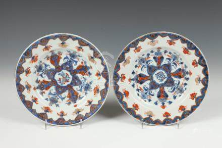 PAIR CHINESE IMARI PLATES, 18th -19th entury. - Dia.: 8 3/4