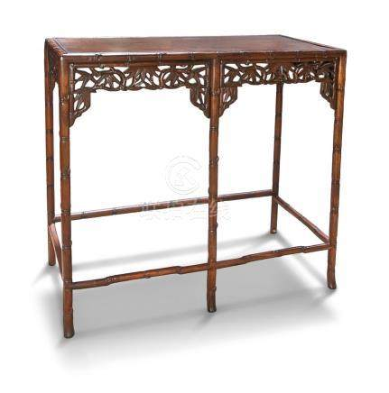 CARVED BAMBOO PATTERN TABLE