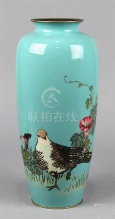 Japanese Ota Cloisonne Vase, Meiji