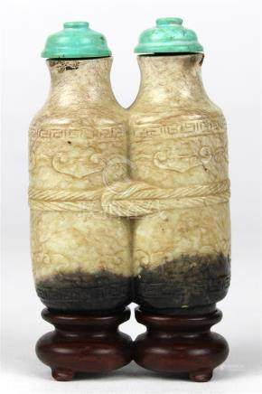 Chinese Carve Jade Double Snuff Bottle