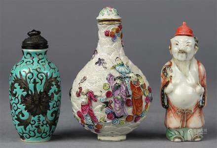 Chinese Porcelain Snuff Bottles, Immortals