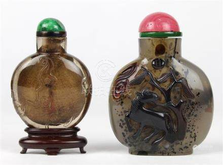 Chinese Rock Crystal/Agate Snuff Bottles
