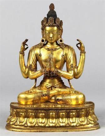 Sino-Tibetan Bronze Guanyin