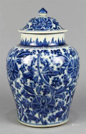 Chinese Blue-and-White Transitional Porcelain Jar
