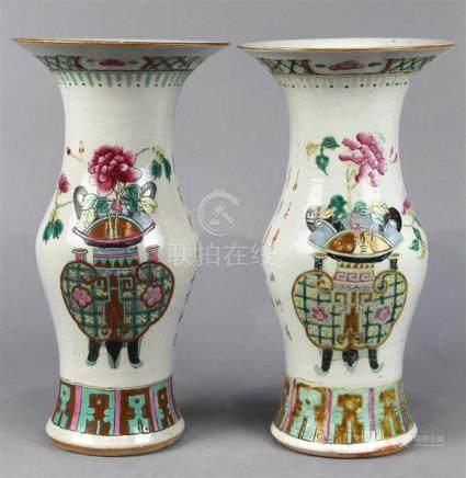 Chinese Gu-Form Porcelain Vases