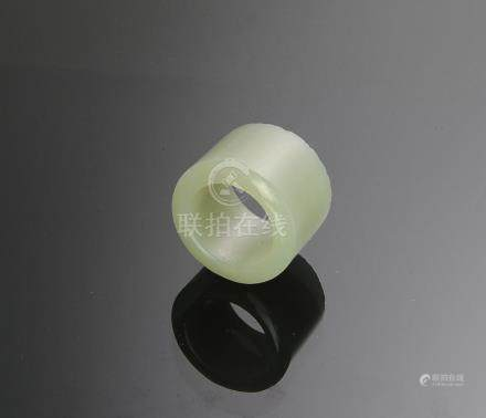 CHINESE JADE ARCHER'S RING, MID-QING DYNASTY