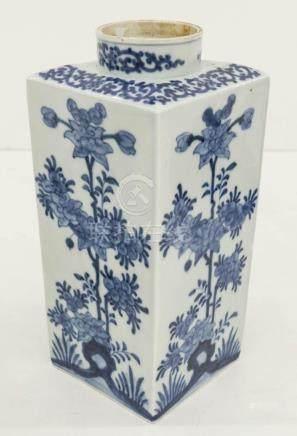 Early Japanese Kakiemon Blue & White Porcelain Canister 10.2