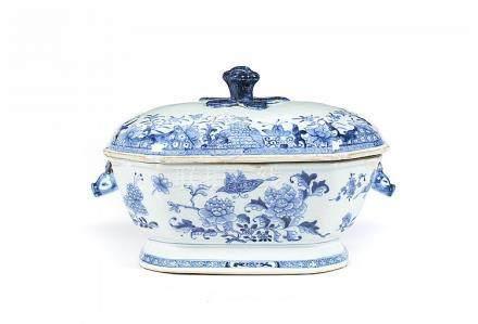 Terrina com tampa em porcelana chinesa CI