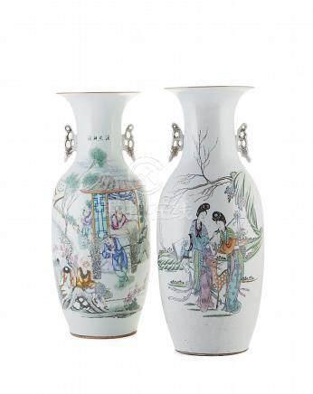 Par de jarrões em porcelana chinesa (2)