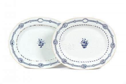 Par de travessas em porcelana chinesa da CI (2)