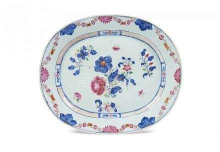 Travessa em porcelana CI, reinado Qianlong