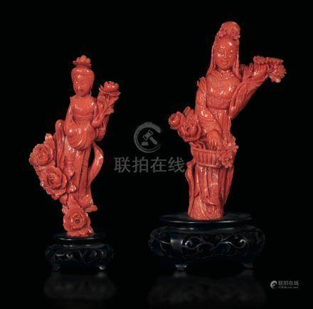Two coral sculptures, China, early 1900s