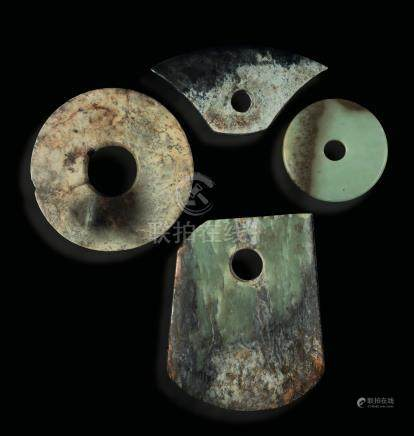 A lot of archaic jade items, China