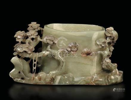 A jade bowl, China, Qing D., late 1800s
