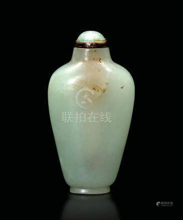 A jade snuff bottle, China, 1800s